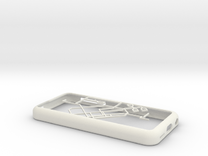 Singapore MRT network map iPhone 5c case in White Strong & Flexible