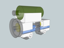 FlexChassis: 2,3 of 4 axles.   H0e / 009 / N in Frosted Ultra Detail