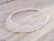 Necklace SC in White Strong & Flexible Polished