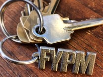 FYPM Keychain  in Stainless Steel