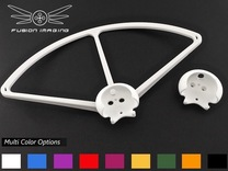 4x. DJI Phantom Prop Guard Connector (V4) in White Strong & Flexible Polished