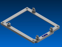 Low desktop stand for Arduino Duemilanove in Blue Strong & Flexible Polished