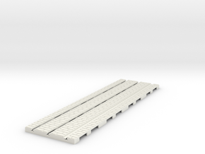 P-165-32st-tram-long-straight-100-1a in White Natural Versatile Plastic