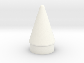 Space Shuttle SRB Nose Cone-ST-8 Scale in White Processed Versatile Plastic