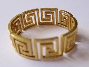 Greek Ring Brass - size 7.25 in Raw Brass