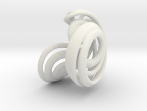 Lorenz Attractor 84 in White Strong & Flexible