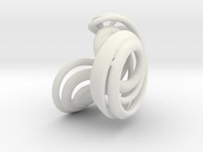 Lorenz Attractor 84 in White Natural Versatile Plastic