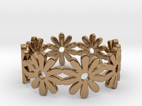 32 Daisy Ring V1 Ring Size 7.75 in Polished Brass
