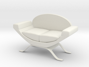 Couch No. 11 in White Natural Versatile Plastic
