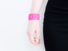Facet Bracelet #01 in Pink Strong & Flexible Polished