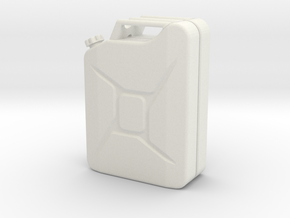 Jerry Can scale 1:10 in White Strong & Flexible