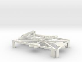 (Armada) 1x Medium Stand + Peg in White Natural Versatile Plastic