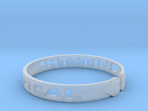 Quit The Typical Bracelet in Smooth Fine Detail Plastic