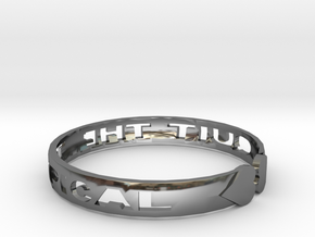 Quit The Typical Bracelet in Fine Detail Polished Silver