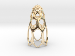 jamD Radiolarian 003 in 14k Gold Plated Brass