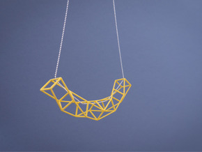 Space Necklace #01 in Yellow Processed Versatile Plastic