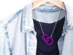 Motif Necklace #01 in Purple Strong & Flexible Polished