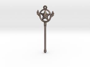 Cardcaptor [Star Form Pendant] in Polished Bronzed Silver Steel