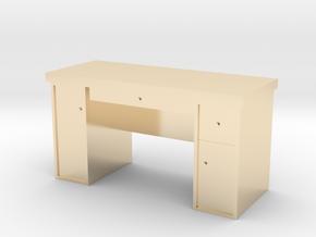 HO Scale Desk  in 14k Gold Plated Brass