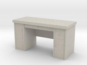 HO Scale Desk  in Natural Sandstone
