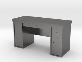 HO Scale Desk  in Polished Nickel Steel