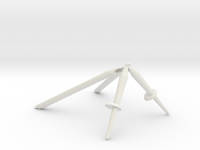+Z,-Z & -Y Landing Gear Outrigger in White Natural Versatile Plastic