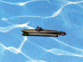 "Submarine Type ""Biber"" 1/285 6mm in Smooth Fine Detail Plastic"