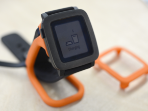 Charging dock for Pebble Time, Steel, Time 2, etc! in Orange Strong & Flexible Polished