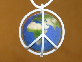 World Peace III (Cage) in White Strong & Flexible Polished