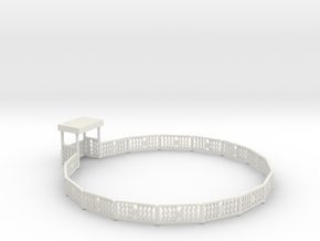 Sellner Spin Fence in White Natural Versatile Plastic