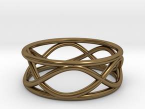 Infinity Ring- Size 6 in Polished Bronze