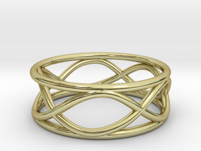 Infinity Ring- Size 6 in 18K Gold Plated