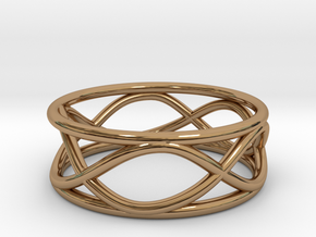 Infinity Ring- Size 5 in Polished Brass