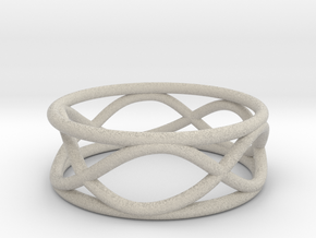 Infinity Ring- Size 5 in Natural Sandstone