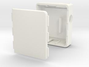 MARK XI Unregulated Dual 18650 Box Mod in White Processed Versatile Plastic