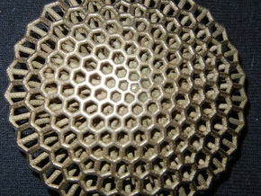 honeycomb in Polished Bronzed Silver Steel