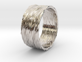 Twisted No.3 in Rhodium Plated Brass