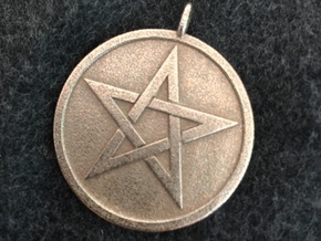 Solid Pentacle Pendant in Stainless Steel