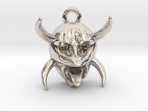 Vejigante in Rhodium Plated Brass