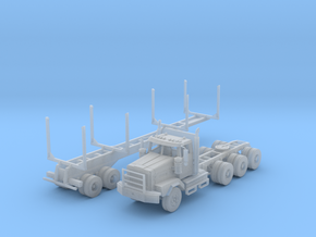 WS 4900XD Tri-Axle Logger N Scale in Frosted Extreme Detail