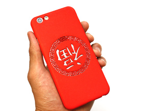 Chinese lucky mark 福 iPhone6 case in Red Strong & Flexible Polished