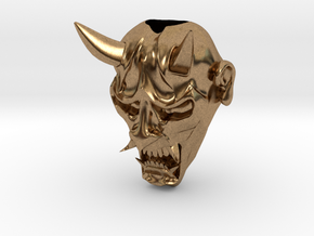 Hannya Bead in Natural Brass