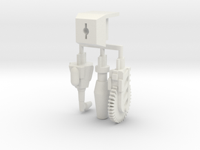 Hand Mod Set For Print in White Natural Versatile Plastic