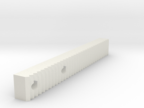 Ag1 Part Jagged Gripper Attachment Left in White Natural Versatile Plastic
