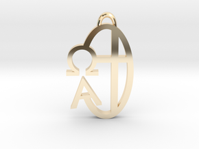 Alpha Omega in 14K Yellow Gold