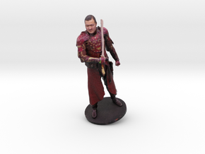 Michael Cook in Red Armor in Full Color Sandstone
