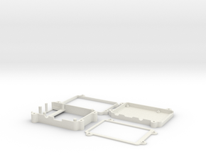 Raspberry Pi 2 & 3 case with 3.5 display. in White Natural Versatile Plastic