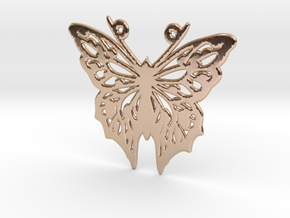 Butterfly in 14k Rose Gold Plated Brass