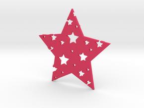 Funky Star in Pink Processed Versatile Plastic