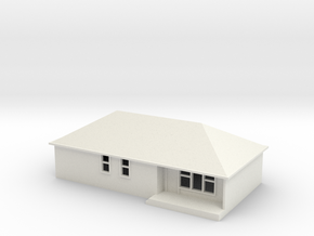 N Scale Australian House #1A in White Natural Versatile Plastic